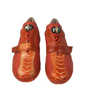 MAURI Lace Up Adjustable Strap Leather Shoes